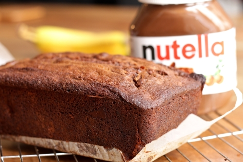 Nutella and banana cake