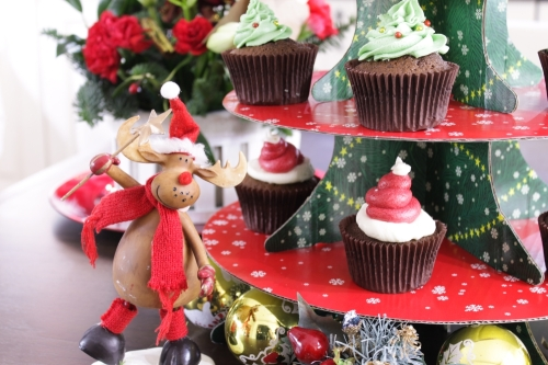 Photobombing reindeer. And cupcakes.