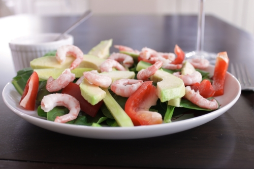 Prawn avocado salad